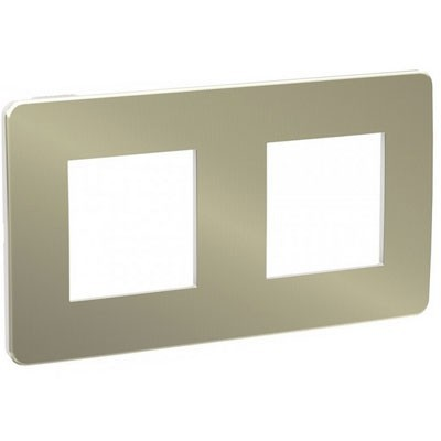 Marco doble Studio Metal Schneider New Unica NU280450 bronce