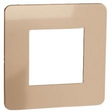 Marco 1 elemento cobre Schneider NU280257 New Unica Studio Metal