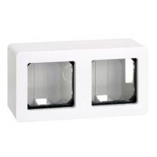 Caja de superficie doble 27821-35 Simon 27 blanco