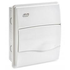 Caja distribución empotrable 8 modulos IP40 ventana blanca
