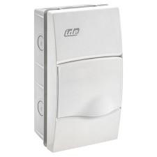 Caja distribución 4 modulos empotrable IP40 blanca ventana opaca