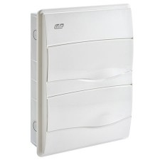 Caja distribución 24 modulos empotrable IP40 blanca