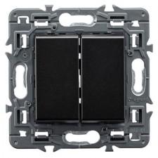 Interruptor doble Legrand 741444 Valena Next Dark