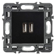 Cargador USB doble Legrand 741431 Valena Next dark 2400mA