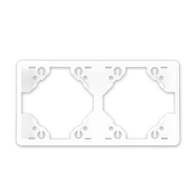 Marco 2 elementos horizontal Efapel 50921 T BR Apolo 5000 blanco