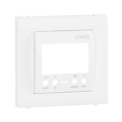 Tapa interruptor horario digital 1 circuito Efapel 50743 T BR Apolo 5000 blanco
