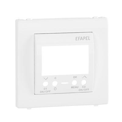 Tapa blanca para interruptor horario digital 2 circuitos Efapel 50744 T BR Apolo 5000