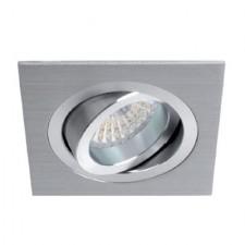 Aro empotrable basculante de aluminio blanco GU10 LED