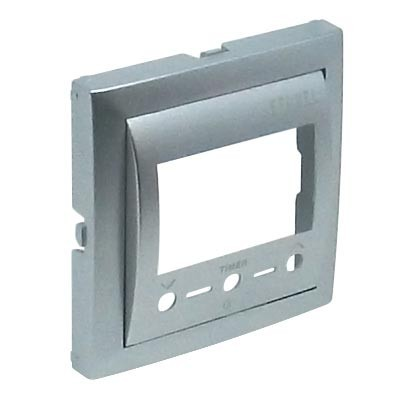 Tapa termostato digital Efapel Logus 90 con IR color aluminio 90742 TAL