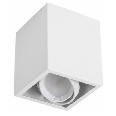 Foco de superficie GU10 blanco serie Kardan Augusto