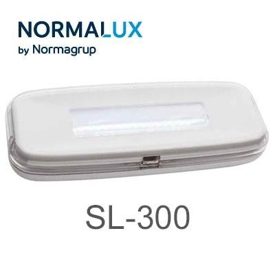 Luz de emergencia 300 lumenes SL-300 stylo LED normalux