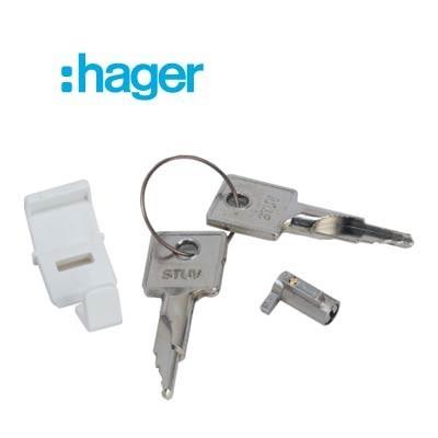Cerradura con 2 llaves Hager VZ794N para cuadros eléctricos golf series VF y VS