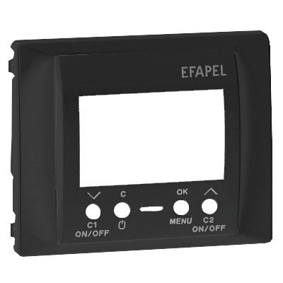 Tapa interruptor horario digital de 2 circuitos Efapel antracita 70744 T AT Sirius 70