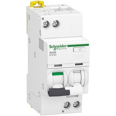 Interruptor automático + Diferencial superinmunizado Schneider A9DF3620 combinado 1p+N 20A 30mA