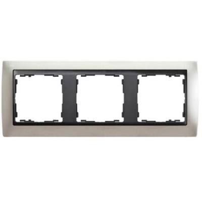 Marco Simon 82834-33 aluminio mate 3 ventanas grafito