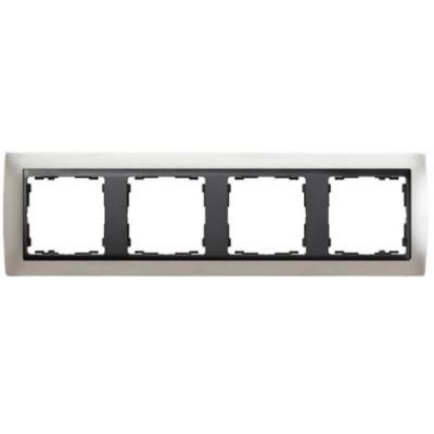 Marco Simon 82844-33 aluminio mate 4 elementos grafito