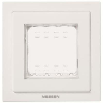 Marco estanco Zenit N3271BL 1 ventana IP55 blanco Niessen