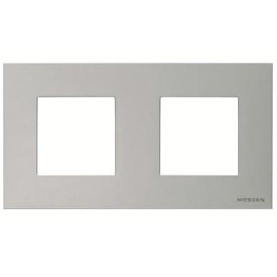 Marco Niessen n2272pl 2 ventanas 2 modulos plata serie zenit