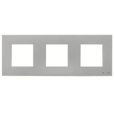 Marco Niessen n2273pl 3 ventanas 2 modulos plata serie zenit