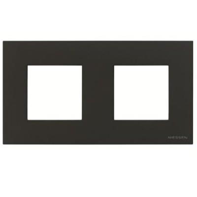 Marco 2 ventanas 2 modulos antracita n2272an serie zenit niessen