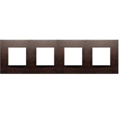 Marco 4 ventanas 2 modulos wengue n2274wg zenit niessen