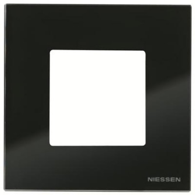 Marco 1 ventana 2 modulos cristal negro n2271cn zenit niessen