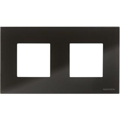 Marco 2 ventanas 2 modulos cristal negro n2272cn zenit niessen