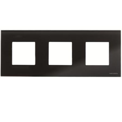 Marco 3 ventanas 2 modulos cristal negro n2273cn zenit niessen