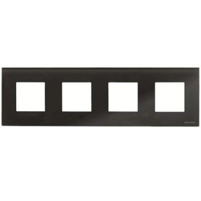 Marco 4 ventanas 2 modulos cristal negro n2274cn zenit niessen