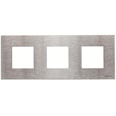Marco Niessen n2273 ox 3 ventanas 2 modulos acero inoxidable zenit
