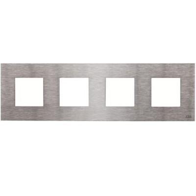 Marco Niessen n2274 ox 4 ventanas 2 modulos acero inoxidable zenit