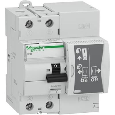 Diferencial Schneider 18281 rearme automático Autotest 40A 30mA clase A RED test