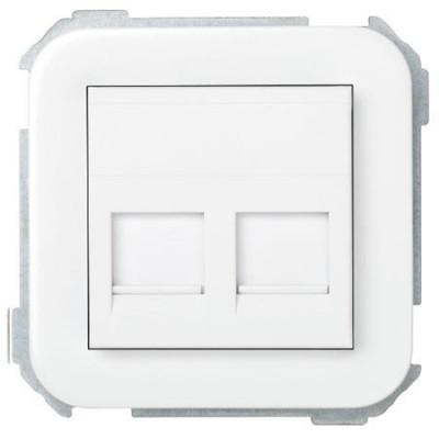 Adaptador 2 conexiones informaticas simon 31089-60 blanco