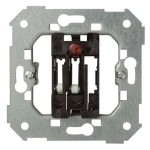Interruptor conmutador tarjeta simon 26550-39 2 microrruptores luminoso