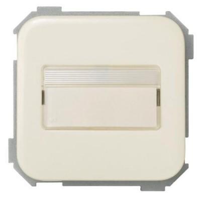 Conmutador porta-rotulos luminoso simon 31260-31 serie 31 marfil