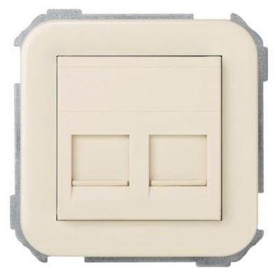 Adaptador 2 conexiones informaticas marfil simon 31089-61