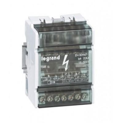 Repartidor modular legrand 04880 bipolar 100A 4 módulos
