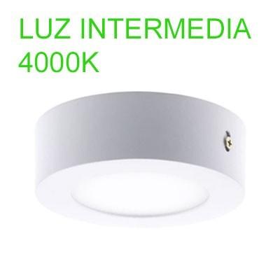 Mini downlight de LED superficie 12cm diámetro 6W luz intermedia