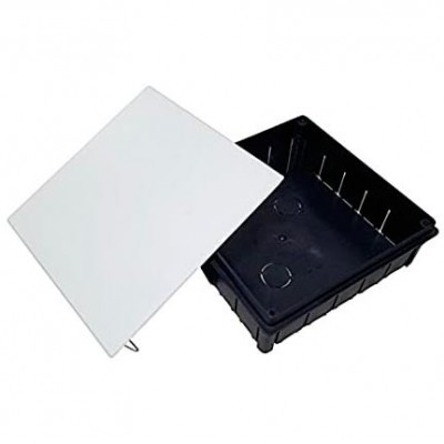 Caja solera 620 conexion tapa garra metalica 200x200x65
