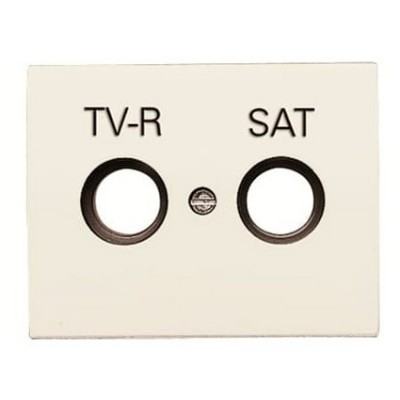 Tapa toma television satélite Niessen 8450.1 bl blanco jazmin Olas