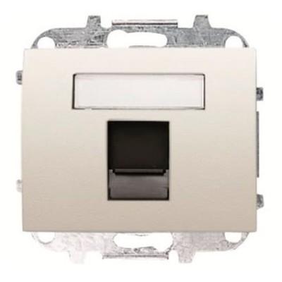 Tapa Niessen 8418.1bl conector telefono informatica blanco jazmín