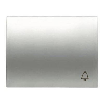Tecla Niessen 8404 tt para pulsador simbolo timbre titanio olas