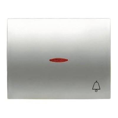 Tecla Niessen 8404.3 tt pulsador visor simbolo timbre titanio olas