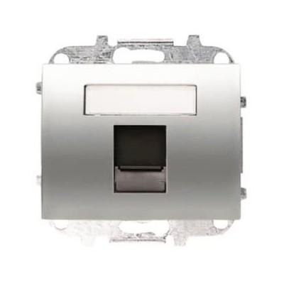 Tapa Niessen 8418.1 tt ventana 1 conector tel informatica titanio
