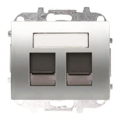 Tapa Niessen 8418.2 tt ventanas 2 conectores tel informatica titanio