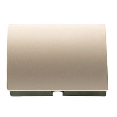 Tapa salida cable pulsador tirador Niessen 8407 CS cobre saten olas
