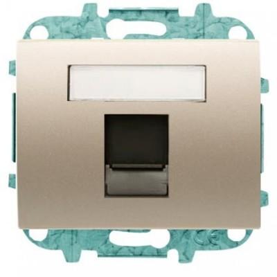 Tapa Niessen 8418.1 cs ventana 1 conector tel informatica cobre saten