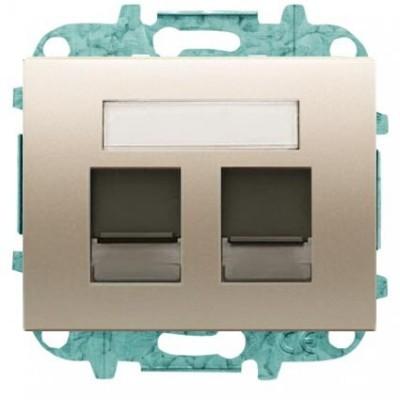 Tapa Niessen 8418.2 cs ventanas 2 conectores tel informatica cobre saten