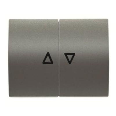 Tecla interruptor pulsador persianas Niessen 8444 AP acero perla olas