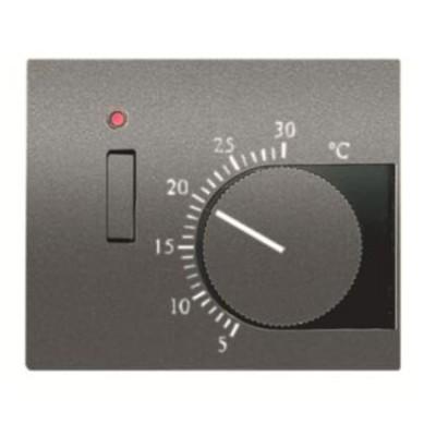 Tapa termostato interruptor Niessen 8440.1 ap acero perla Olas